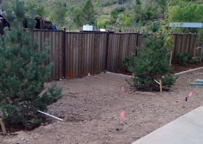 Steel privacy fence rusted