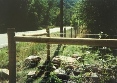 Typical H brace with Horse fence